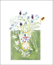 Festival of Britain Glass with Spring Flowers