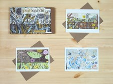 12 boxed postcards with envelopes