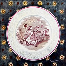 Victorian Crockery 'Children with butterfly'