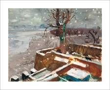 Snow at Durham Wharf, 1946