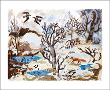 Winter Fox and Crows