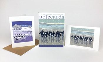 Snowy Beach Kings & Flocks by Night
