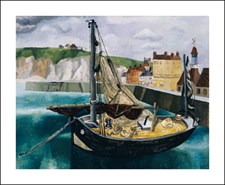 A Fishing Boat in Dieppe Harbour, 1929