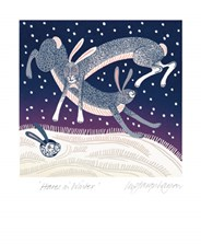 Hares In Winter